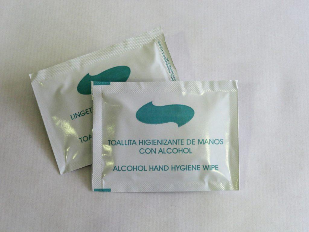 toallitas con gel hidroalcoholico con fragancia